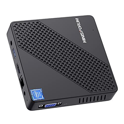 Mini PC Lüfterlos Intel Celeron N4020 (bis zu 2.8 GHz) 4GB DDR4/64GB eMMC Mini-Desktop-Computer...