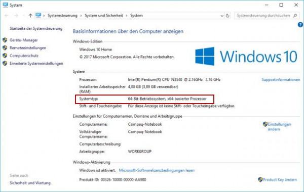 Habe ich 64 Bit oder 32 Bit Windows 10?