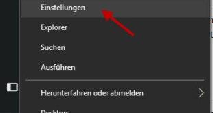 Windows-Einstellungen über alternatives Startmenü