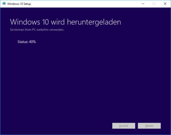 Windows 10 ISO-Datei herunterladen