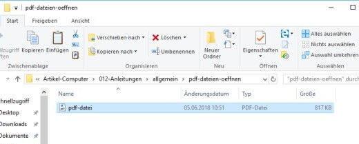 PDF Datei im Windows Explorer