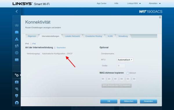 DHCP aktivieren im WLAN-Router