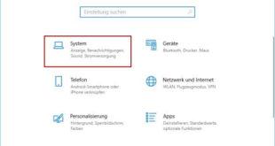 Windows Einstellungen öffnen um die bildschirmauflösung ändern zu können