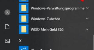 Option Windows Sicherheit im Startmenü
