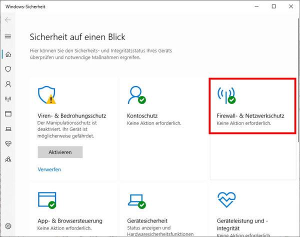 Firewall- & Netzwerkschutz