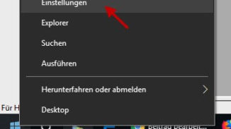 Windows-Einstellungen öffnen über Startmenü
