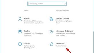 Windows Einstellungen Datenschutz