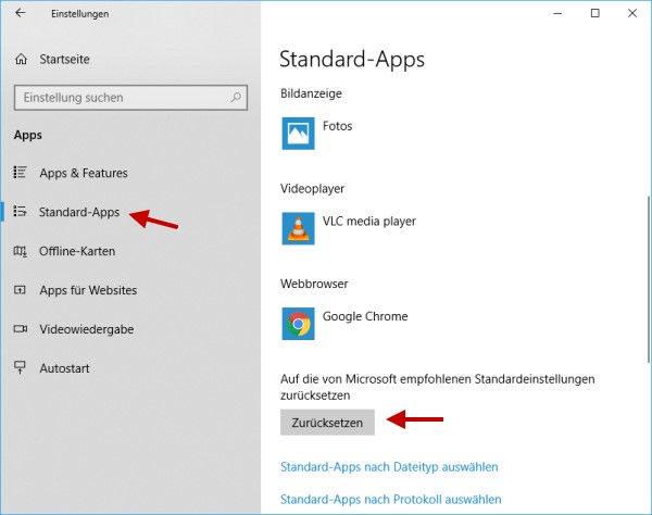 Standard Player Festlegen Windows 10