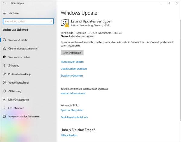 Windows Updates manuell suchen und installieren