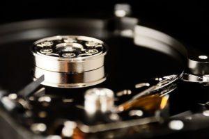 NAS-Festplatte Detailaufnahme
