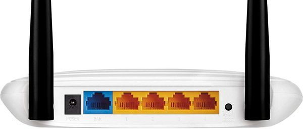 TP-Link TL-WR841N WLAN-Router Anschlüsse Rückseite
