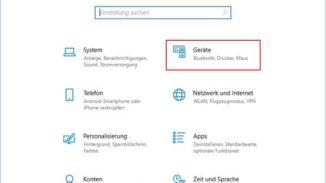 Windows Einstellungen - Geräte