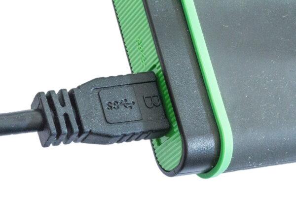 externe Festplatte USB-Anschluss
