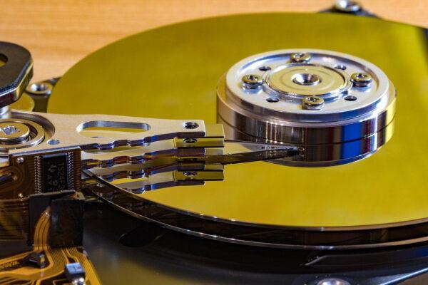 Festplatte Innen Makro
