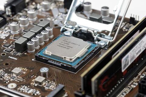 Intel core i5 Prozessor auf Mainboard