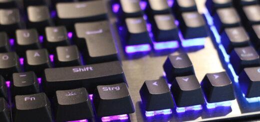 Gaming-Tastatur beleuchtet
