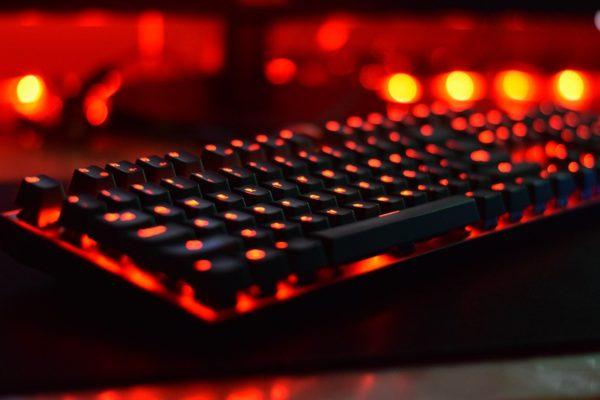 Tastatur rot beleuchtet