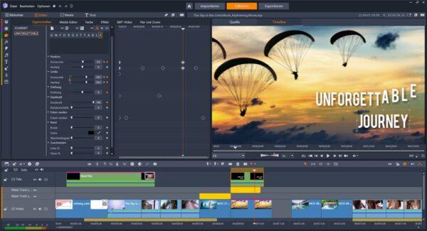 Titel-Editor Pinnacle Studio 24 Ultimate