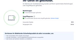 Bitdefender Antivirus Plus Gerätebewertung