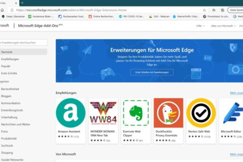 Microsoft Edge Add-ons Store