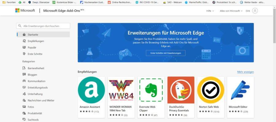 Microsoft Edge Add-ons Store