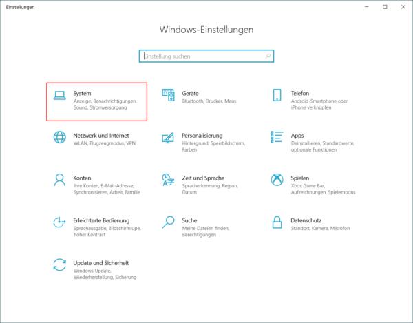 Fenster Windows Einstellungen