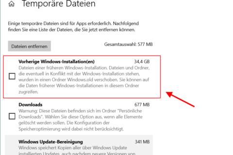 Windows.old löschen